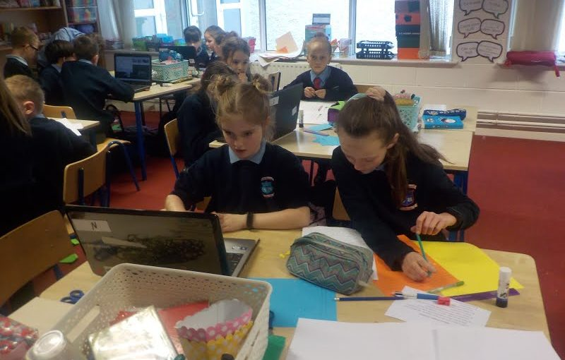 3rd Class working on their ICT skills!