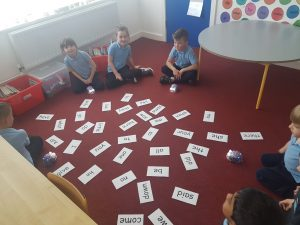Junior Infants Learning with Blue-Bots
